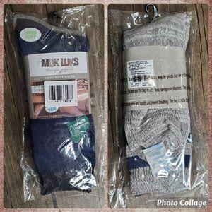 The Original Muk Luks Men's Boot Socks 2-Pairs Size 9-12